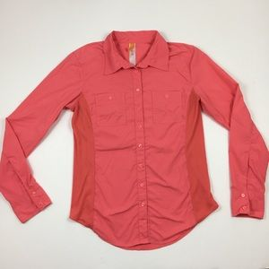 LUCY Casual Pink Button Up Long Sleeve Shirt
